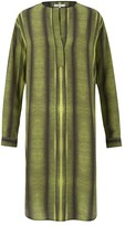 Amanda Wakeley Wupatki Chartreuse Printed Shirt Dress
