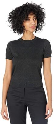 Lauren Ralph Lauren Metallic Cotton-Modal Sweater (Polo Black Lurex) Women's Clothing