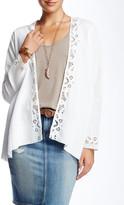 3J Workshop Lace Trimmed Linen Cardigan