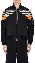 Givenchy Men's Digital Wing-Print Cotton Bomber Jacket