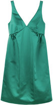 Rochas Green Silk Slip Dress