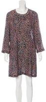 Raquel Allegra Leopard Print Silk Dress