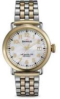 Shinola Runwell Mother-Of-Pearl & Two-Tone Stainless Steel Bracelet Watch