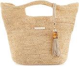 Heidi Klein Grace Bay Mini Raffia Beach Bucket Bag, Neutral
