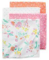 Carter's Pink Floral 4-Pack Blankets