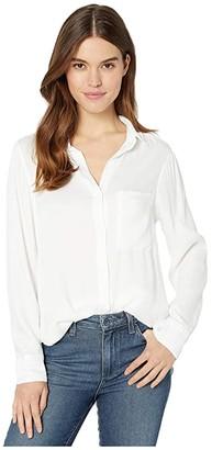 Bella Dahl Pocket Tunic Shirt (White) Women's Clothing