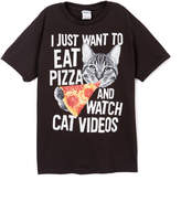 Fifth Sun Black 'I Just Want To Eat Pizza' Tee - Boys