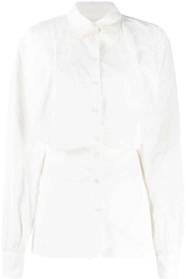 The Attico Long Sleeve Mini Shirt Dress