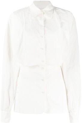 ATTICO Long Sleeve Mini Shirt Dress