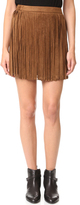 BB Dakota Barton Faux Suede Fringe Skirt