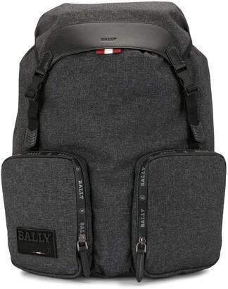Bally Rhudi logo patch backpack