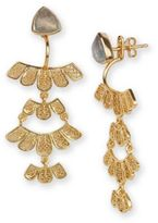 Argentovivo 18K Goldplated Sterling Silver Front Back Earrings