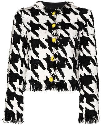 Ashish Sequin-Embellished Houndstooth-Pattern Jacket