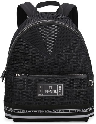 Fendi Technical Fabric Backpack With Logo