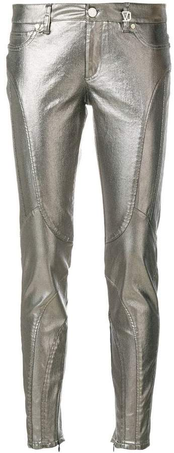 Versace metallic skinny jeans