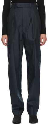 Isabel Marant Navy Seersucker Tacoma Trousers