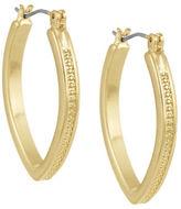 Laundry by Shelli Segal Goldtone Rhodium Wire Marquis Hoop Earrings