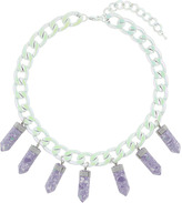 Topshop Purple semi precious necklace