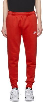 Nike Red Sportswear Club Lounge Pants
