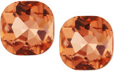 Greenbeads by Emily & Ashley Cushion-Cut Crystal Stud Earrings, Peach