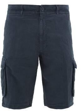 120% Lino Slubbed-linen Cargo Shorts - Mens - Navy