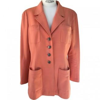 Chanel Orange Cotton Jacket for Women Vintage