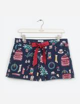 Fat Face Christmas Clutter Pyjama Shorts