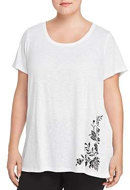 Seven7 Jeans Plus Embroidered High/Low Tee