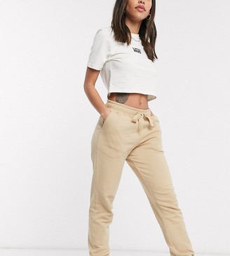 Collusion skinny joggers in beige