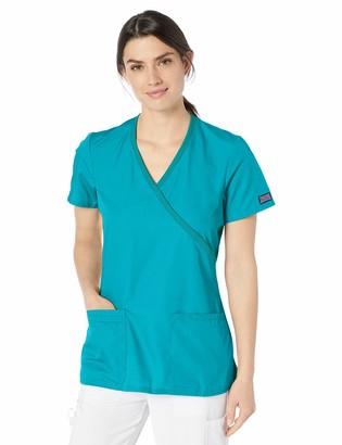 Cherokee Women's Workwear Core Stretch Mock Wrap Scrubs Shirt