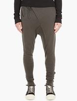 Thom Krom Khaki Asymmetric Sweatpants
