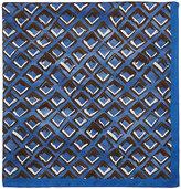 Luciano Barbera Men's Abstract-Diamond-Print Silk Pocket Square