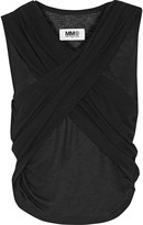MM6 MAISON MARGIELA Wrap-effect stretch-jersey top