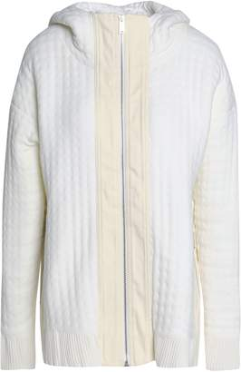 Paco Rabanne Quilted Knitted Hooded Jacket