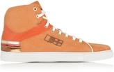 D'Acquasparta D'Acquasparta D Plus B Orange High Top Suede Sneaker