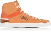 D'Acquasparta D'Acquasparta D Plus B Orange High Top Suede Sneaker