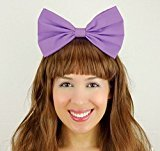 Light Purple Daisy Duck Bow Inspired Headband Handmade Hair Accessory by Sweet in the City