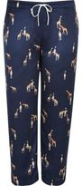 River Island Womens Plus navy giraffe print pajama pants