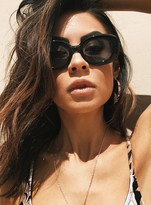 MinkPink Shiny Black/Smoke Untouchable Sunglasses