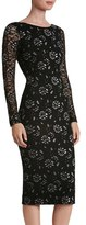Dress the Population Women's Emery Lace Body-Con Midi Dress