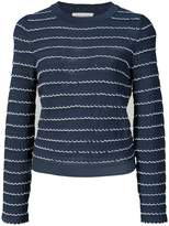 Sonia Rykiel scalloped knitted top