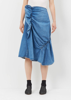 J.W.Anderson washed indigo patchwork gathered skirt