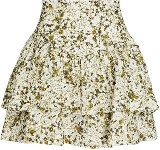 Shona Joy Suzette Floral Frill Mini Skirt