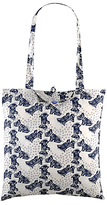 Radley Folk Dog Fabric Folding Tote Bag, Ivory