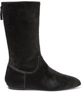 The Row Bill Calf Hair Boots - Black