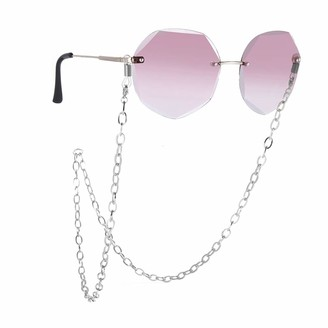 LIKGREAT Cable Link Sunglasses Chain Reading Glasses Chains Lanyards Eyeglasses Strap Eyewear Cord Rope Strap for Women - Silver - Medium