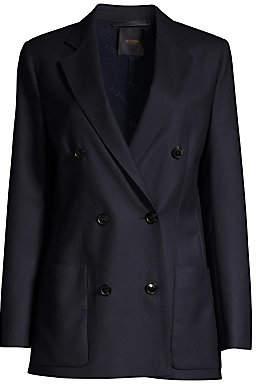 Agnona Women's Wool Flannel Double-Breasted Jacket