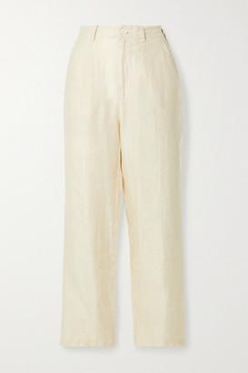 Alex Mill Boy Pleated Linen-twill Pants - Ecru