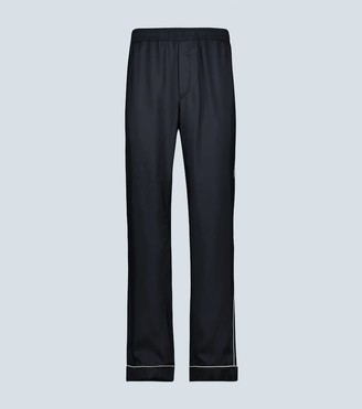 Valentino Silk pants with piping