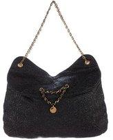 Mayle Metallic Textured Leather Bag